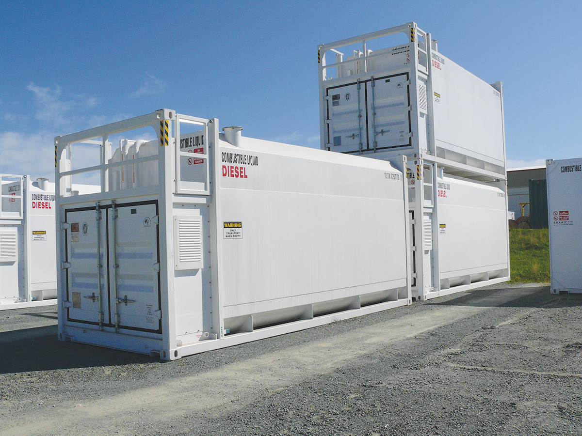 Double walled bulk fuel container