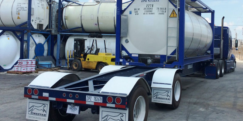 ISO tank chassis